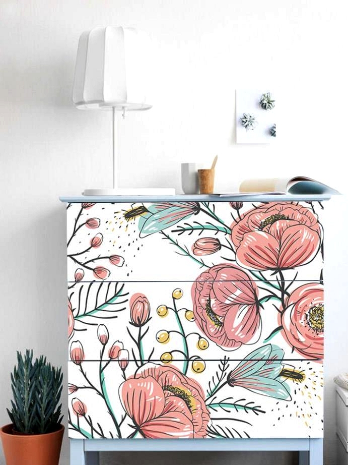 Add a colorful pop of pattern to your IKEA dresser with these reusable and removable stickers!