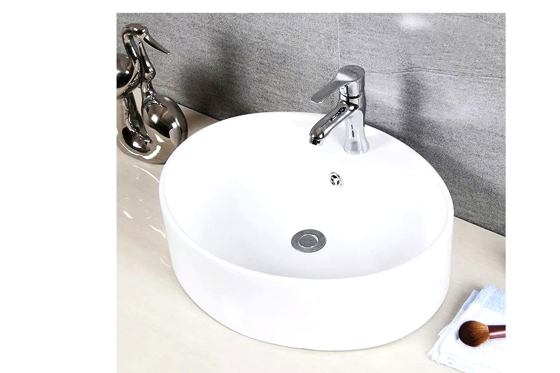 Install a Porcelain Ceramic Oval Sink