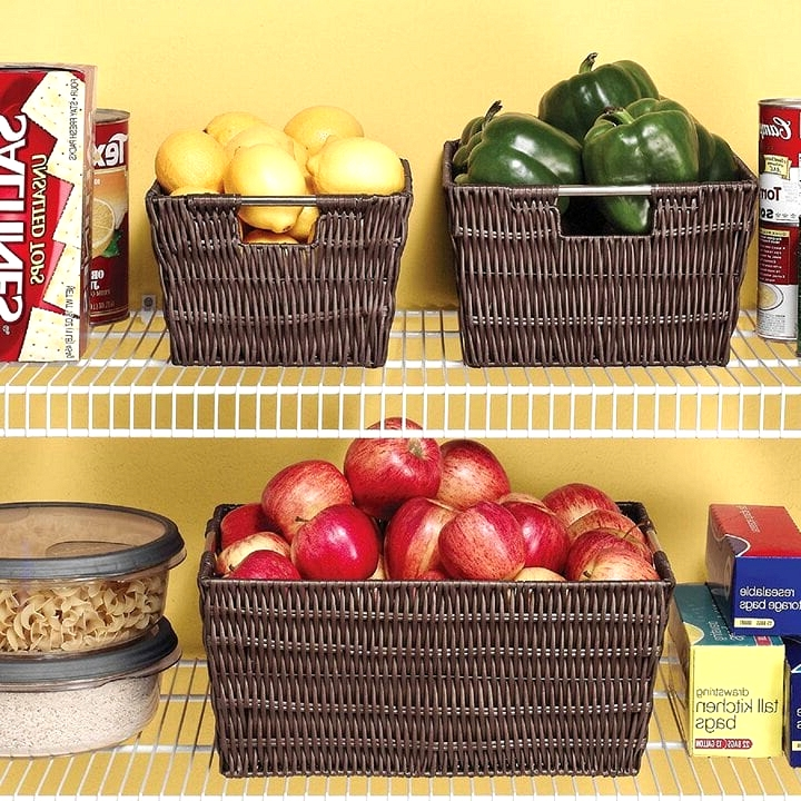 Store Fruits & Veggies In Baskets