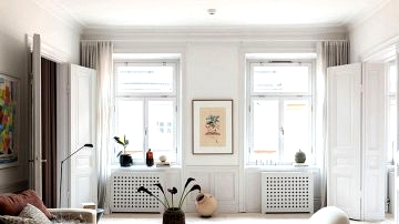 Delicate fashionable design in a traditional shell in Stockholm