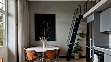 Small loft with mezzanine in extremely stunning home in Sweden (38 sqm)