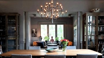 Moody darkish interiors of gorgeous home in Sweden