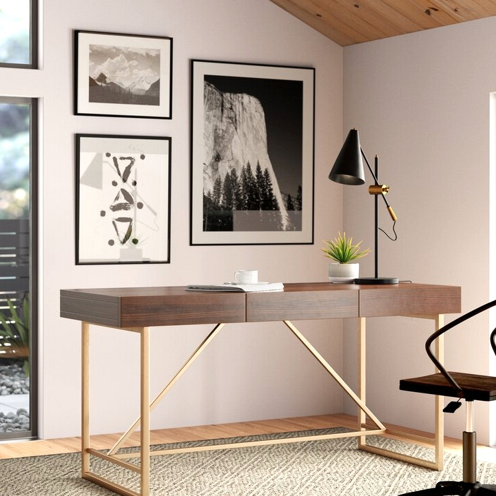 This executive style desk with hidden drawers is just the thing you need to convert your side hustle into an empire!