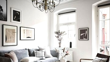 Excessive ceilings and lightweight pure decor: nice residence in Goteborg (57 sqm)