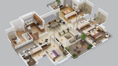 three Bed room Condominium/Home Plans