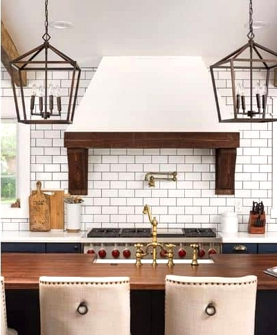 A Brick and Wood Backsplash