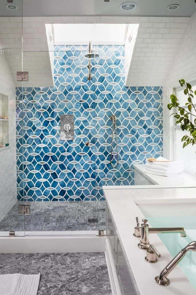 Go Nautical With Abstract Blue Tiles
