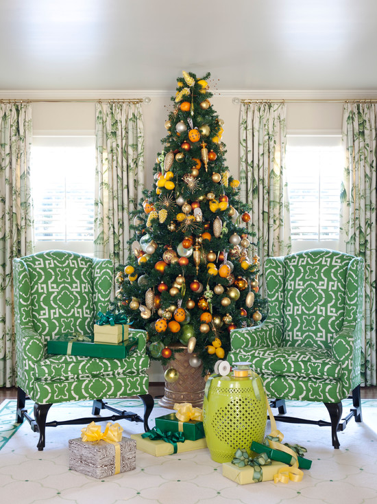Christmas Tree Design in Livingroom