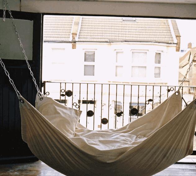 Easy DIY Hammock using just a drop cloth!