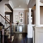 Dark Wood Foyer Decor