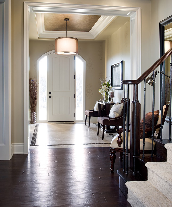 Dark Foyer Paint : Dark wood hallway foyer decor charm