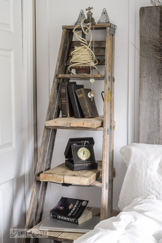 Easy Stepladder Side Table