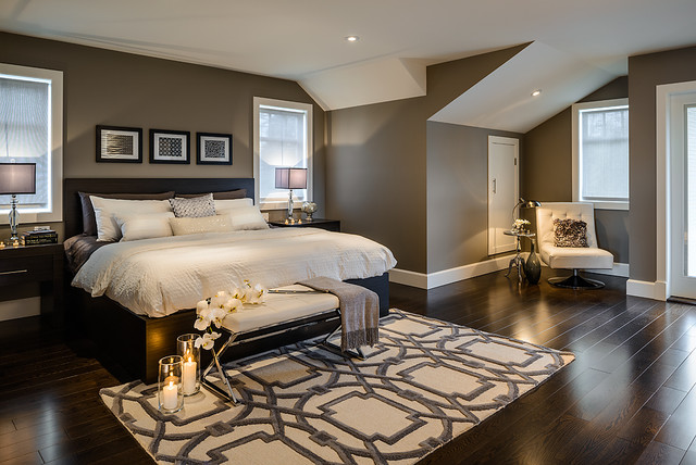 Elegant contemporary bedroom design