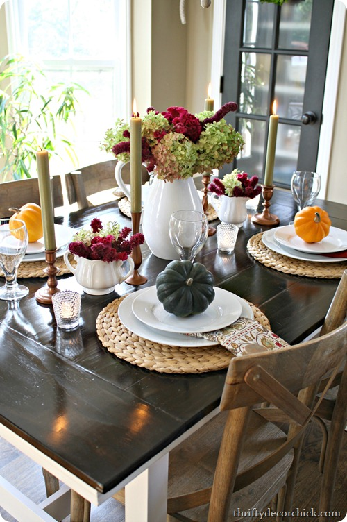 Fall themed Table Decor