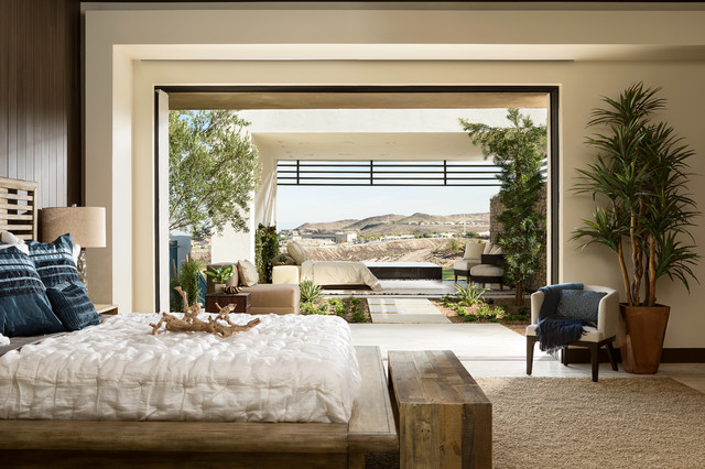 Indoor Outdoor Master Bedroom