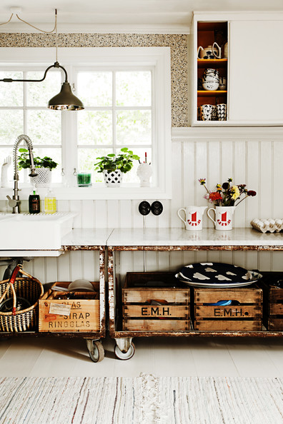 Kitchen Storage Wooden Crates