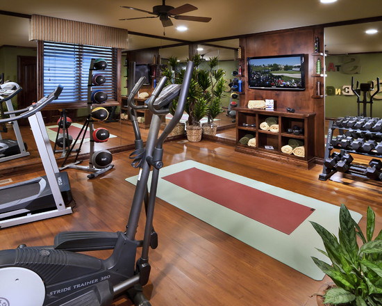 Mediterranean home gym design idea