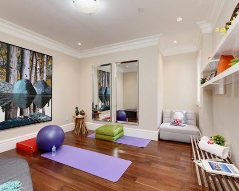 Modern Yoga Studio with Equipments