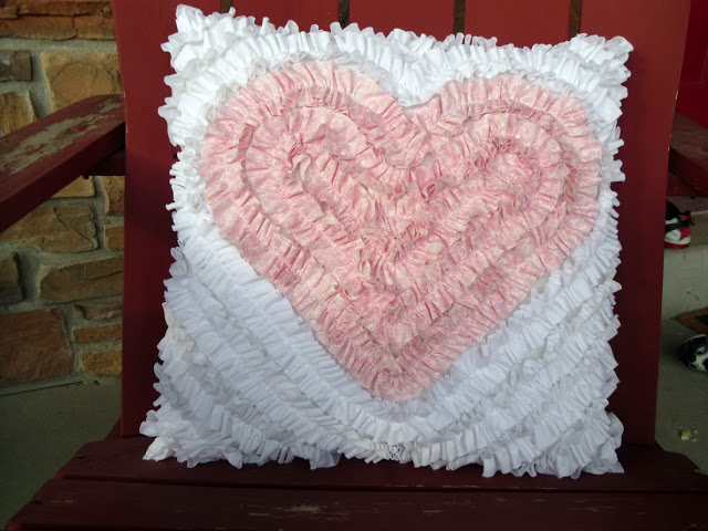 Ruffled Heart Pillow