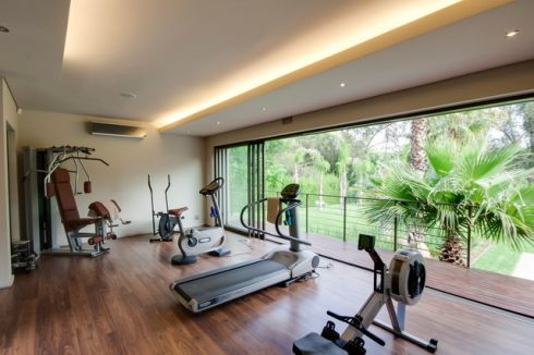artistic home gym idea simple open room for gym - Home Gym Ideas