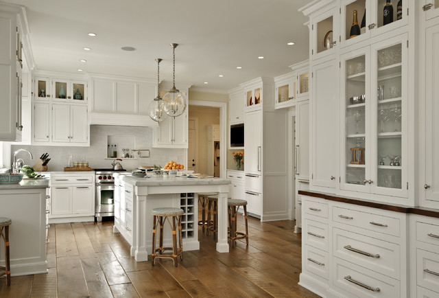 Spacious White Kitchen Design