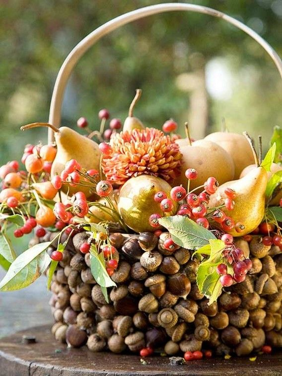Thanksgiving Center Piece Basket