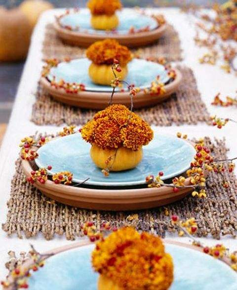 Thanksgiving Pumpkin Table Decor