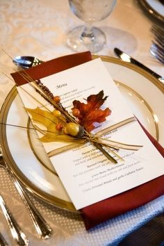 Thanksgiving Table Setting Menu