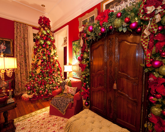 Traditional Christmas Living room Interior Design