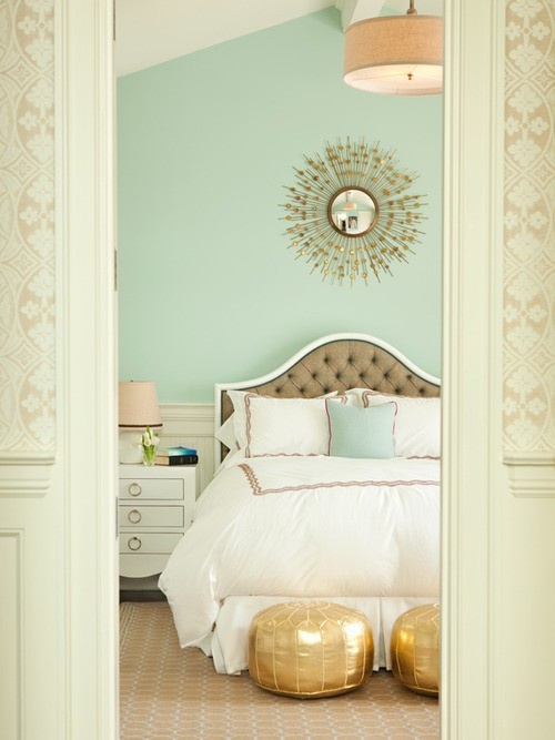 Vintage Mint Bedroom