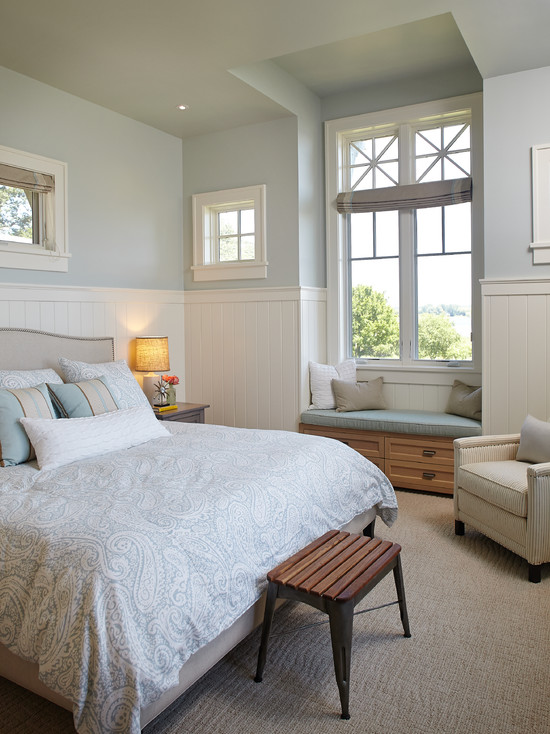 White Lake Beach Bedroom Design Idea