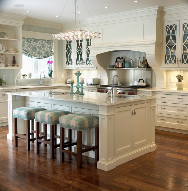 White Traditional Kitchen Decor Charm