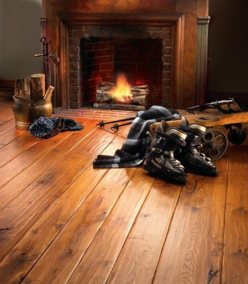 Wide plank hickory hickory hand scraped custom with medium for High end hardwood flooring