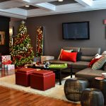 Contemporary living room design idea for christmas