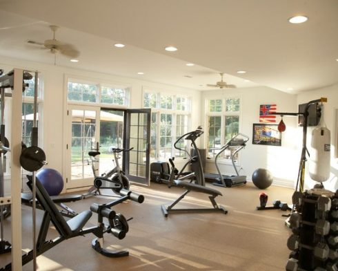 Spaciousness home gym idea
