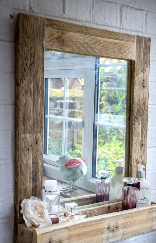 #39. MIRROR AND SHELVING ALL IN ONE