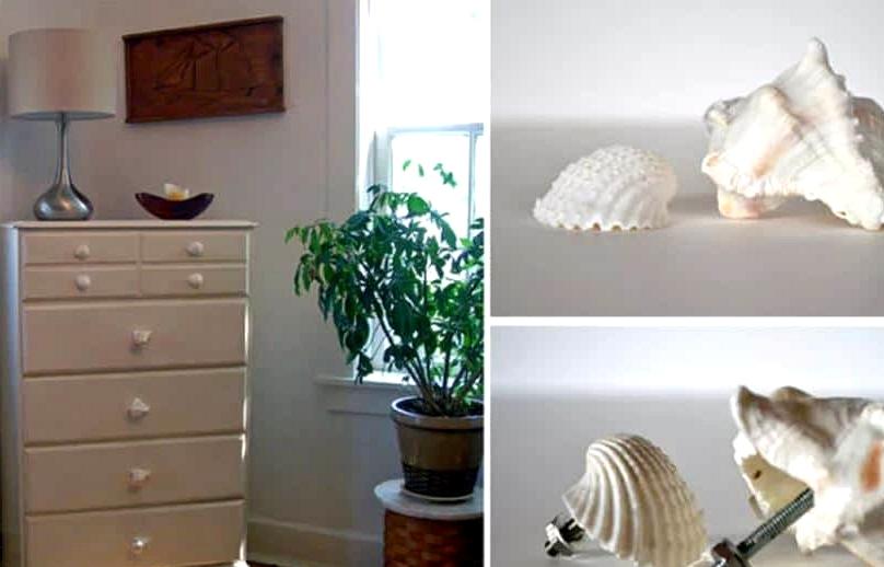 Make Your Own Seashell Dresser Knobs