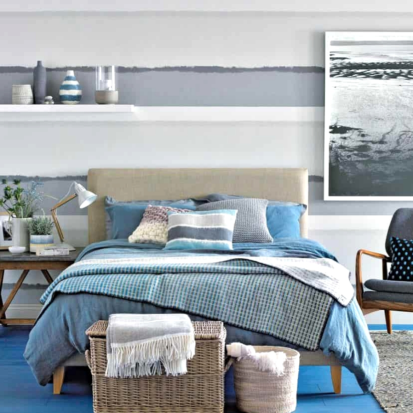 Paint the Walls in Calming Gray Stripes