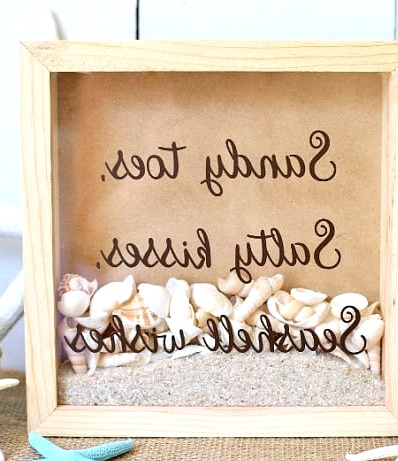 Make Your Own Shadow Box in a Beach Theme
