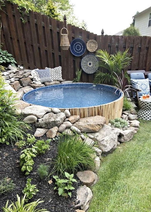 A stock tank pool is perfect for those hot summer days.