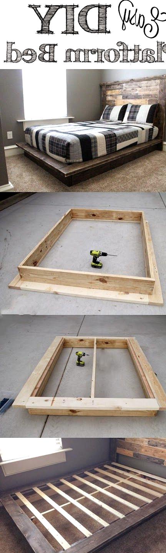 diy easy platform bed tutorial