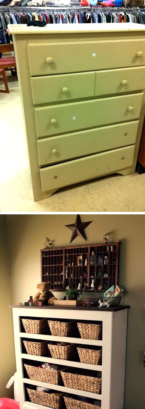 9$ THRIFT STORE DRAWER TRANSFORMED INTO A COOL FUNCTIONAL STORAGE