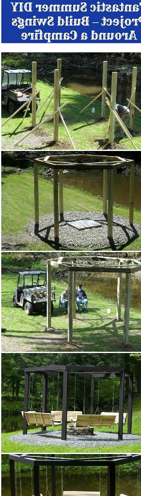 TAKE ON AN EPIC PROJECT- BUILD SWINGS AROUND A CAMPFIRE