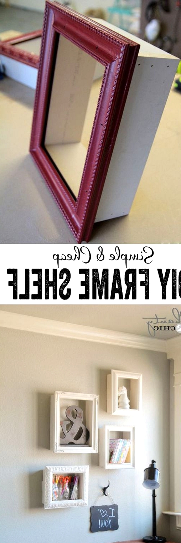 simple and cheap diy frame shelf