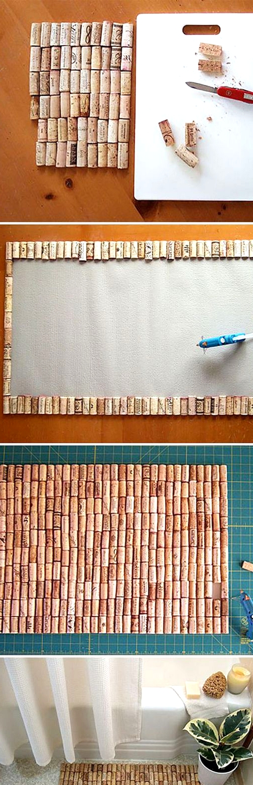 create a brilliant cork rug