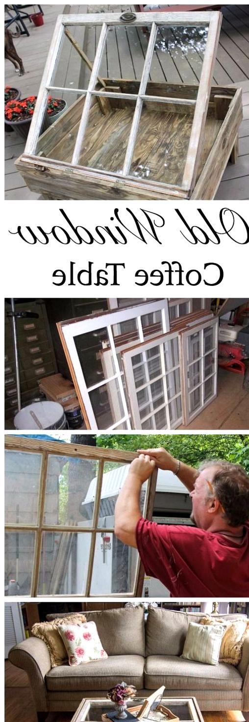 old window coffee table design