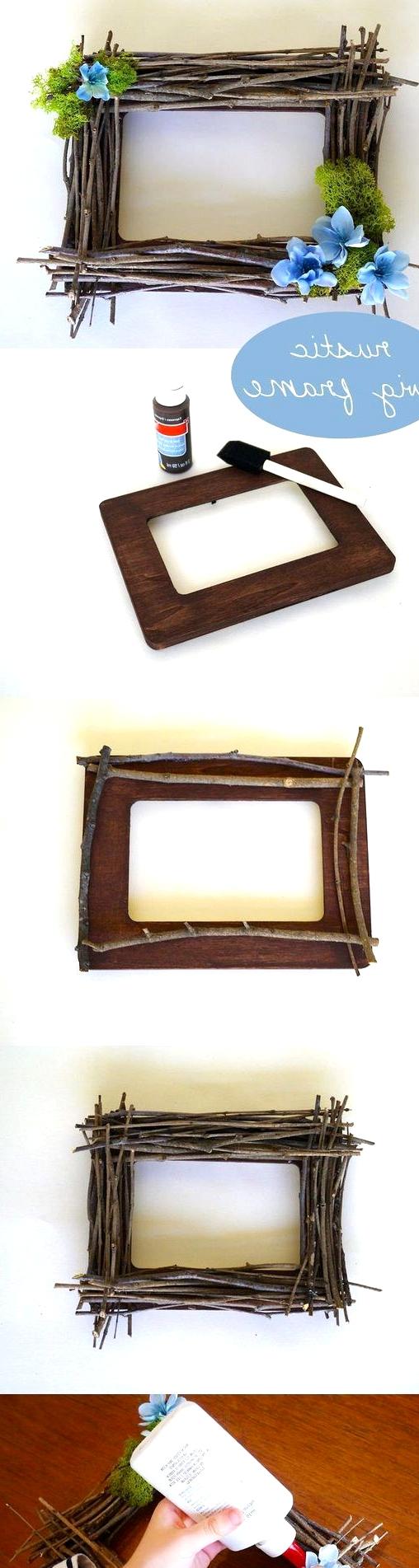 diy rustic twig frame craft