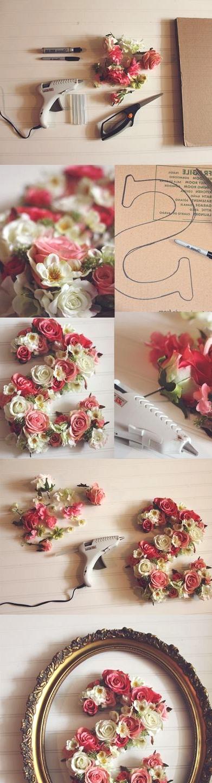 legendary framed flower decoration