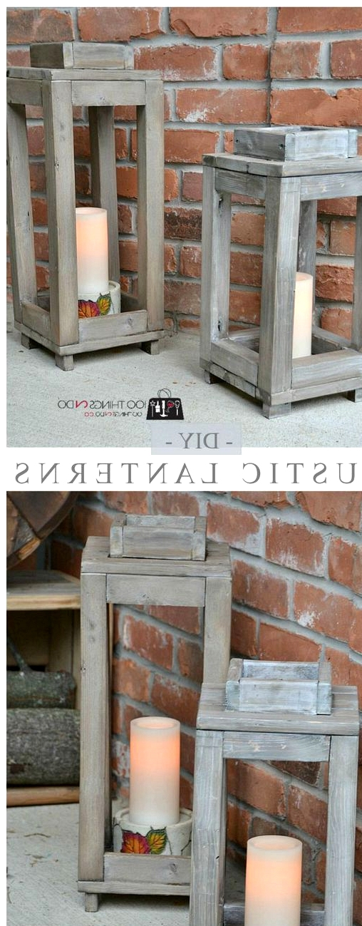 diy wooden lanterns for your porch
