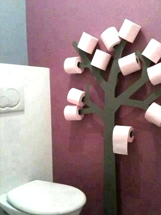 realize a toilet paper tree rack